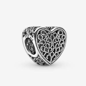 Pandora Filigree beaded heart charm